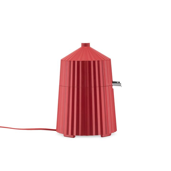 The Plissé electronic lemon squeezer, red by Alessi