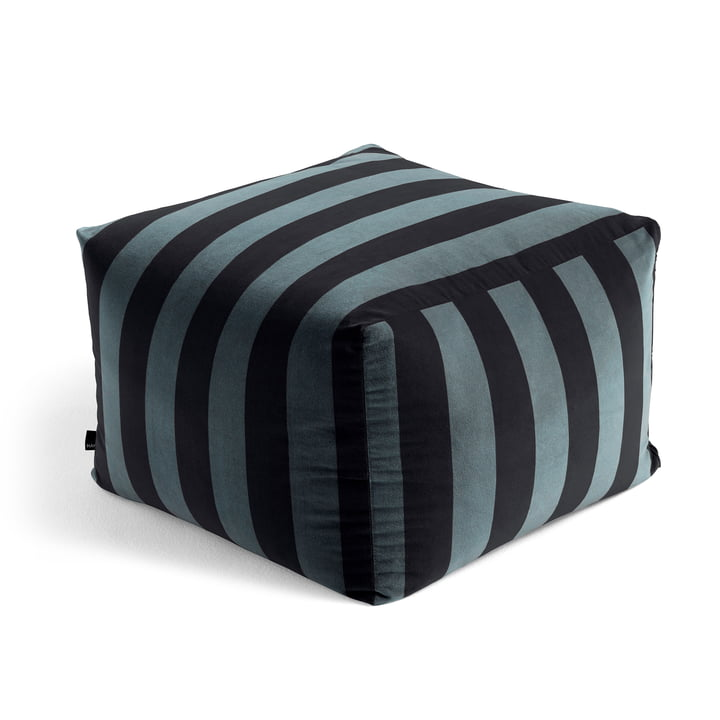The Soft Stripe Pouf, hunter by Hay