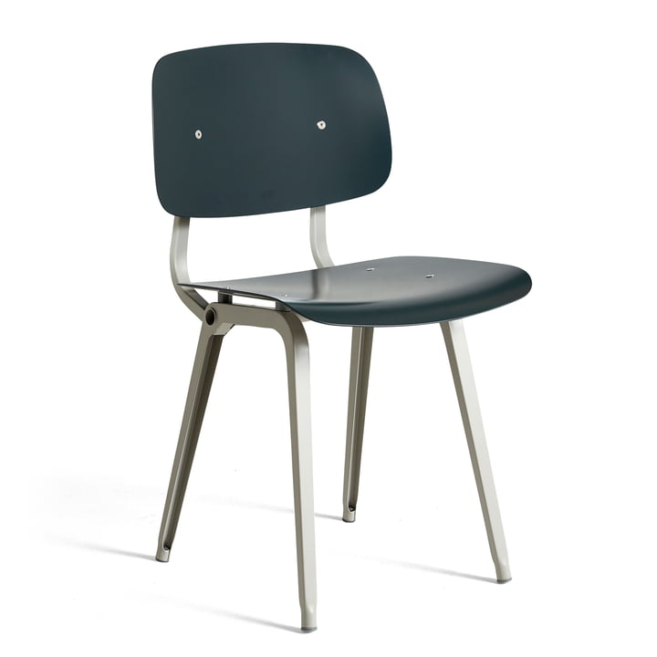 The Revolt Chair, beige / granite gray by Hay