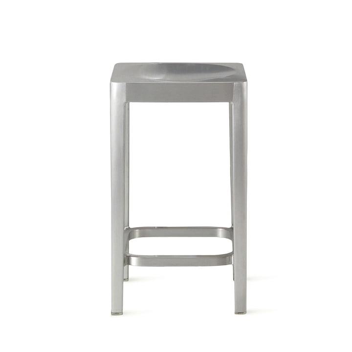 Emeco - bar stool H 61 cm, brushed