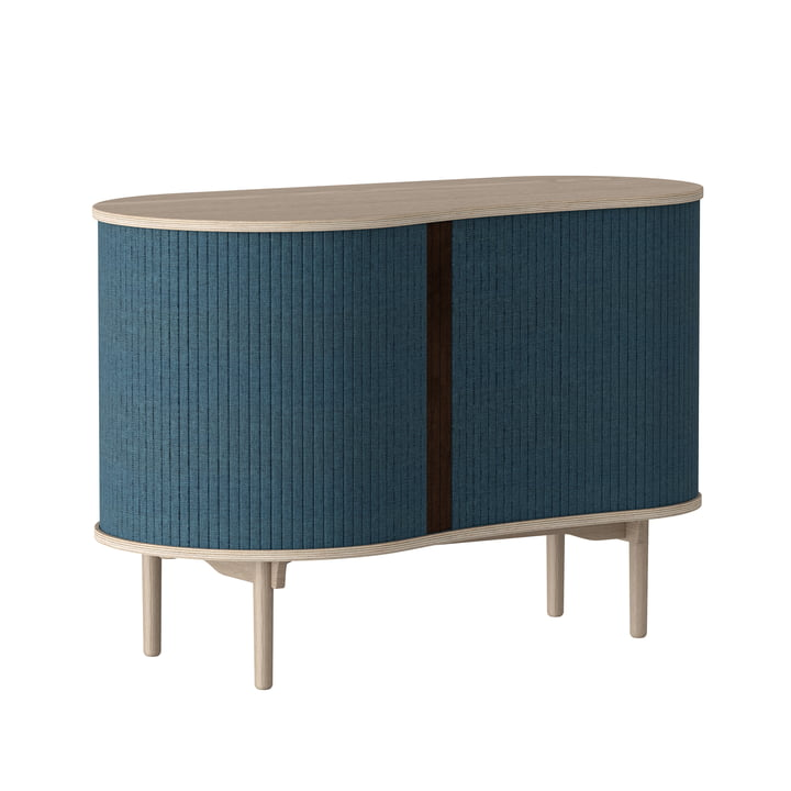 Audacious chest of drawers from Umage in natural oak / petrol blue