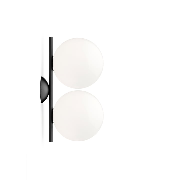IC C / W1 DOUBLE wall and ceiling lamp, black by Flos