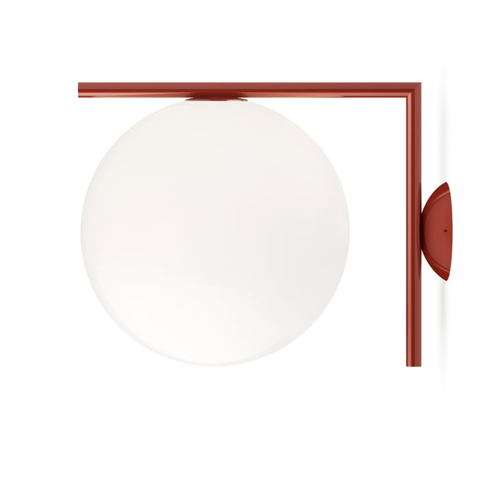 IC C / W2 BRO wall and ceiling lamp, burgundy red by Flos