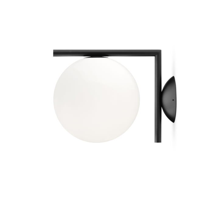 IC C / W1 BRO wall and ceiling lamp, black by Flos