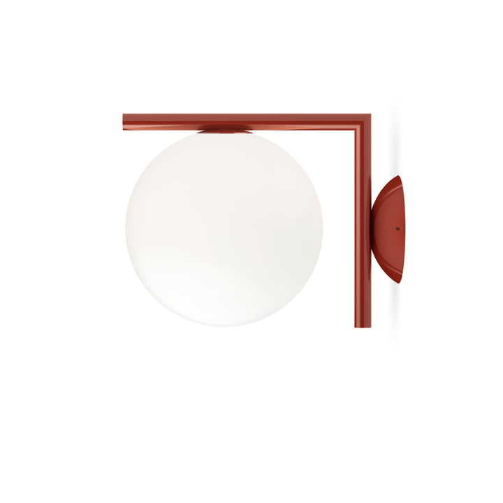 IC C / W1 BRO wall and ceiling lamp, burgundy red by Flos