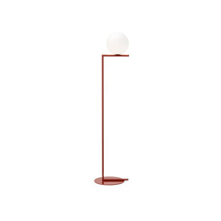IC F1 BRO floor lamp, burgundy red by Flos