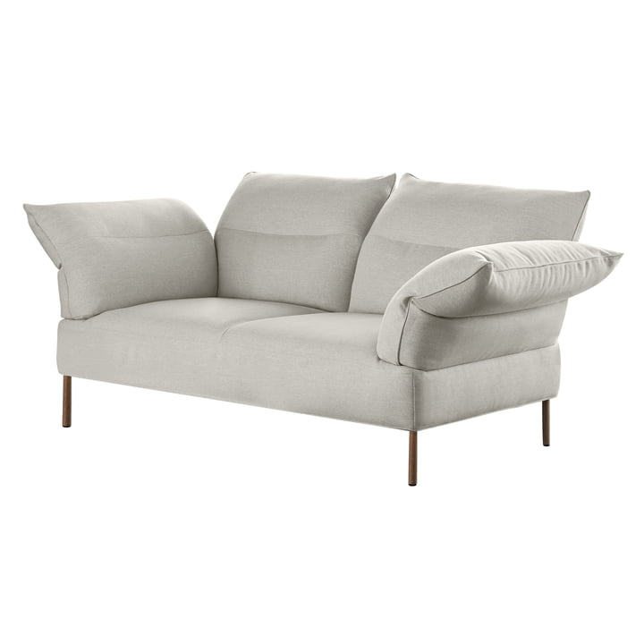 The Pandarine sofa, 3-seater, adjustable armrests, walnut oiled, Mode 9 by Hay