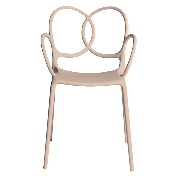 Sissi Armchair, pastel pink by Driade