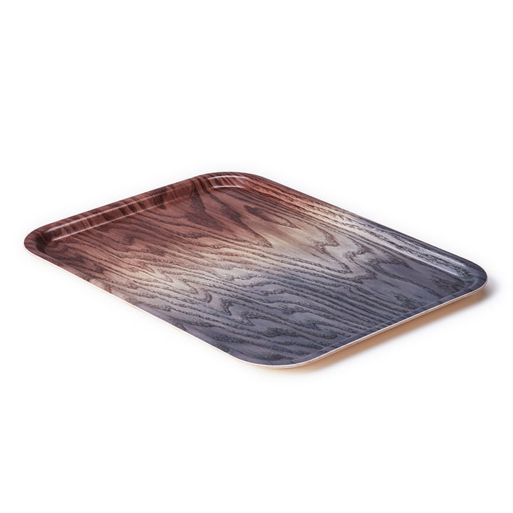 A Tribute to Wood Tray large, brown / grey from applicata