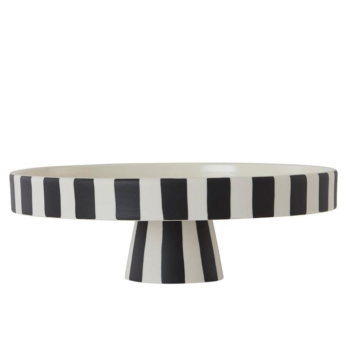 The Toppu tray, Ø 27 x H 9 cm, white / black from OYOY
