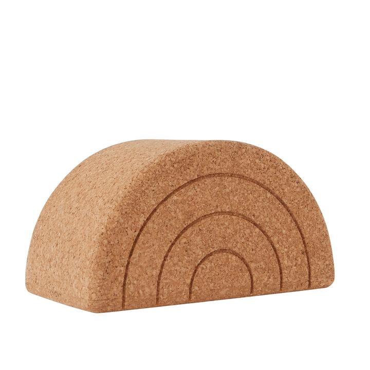 The Rainbow Balance stool, cork from OYOY