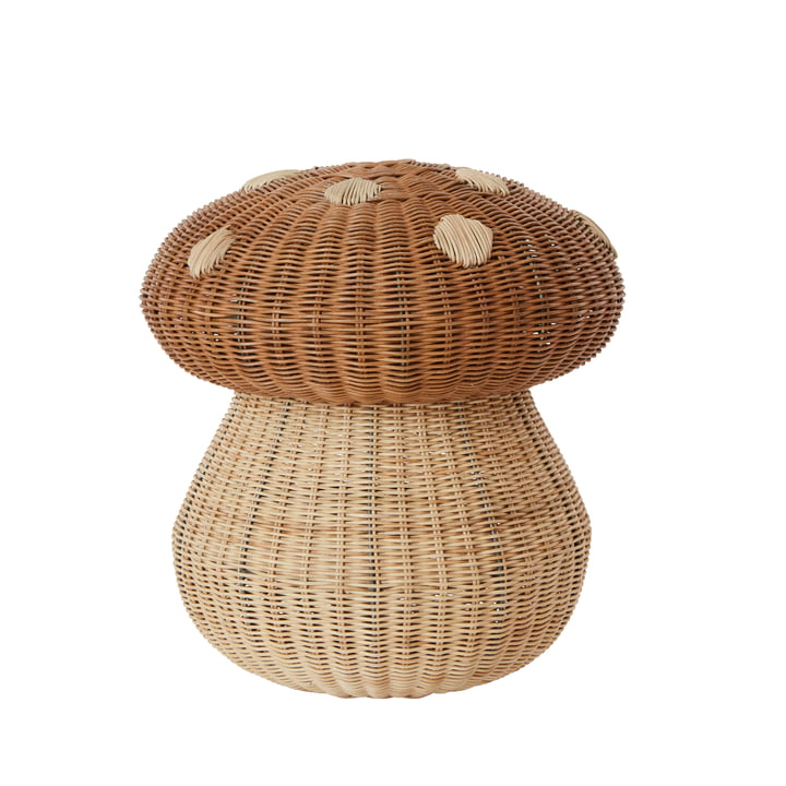The Mushroom storage basket, Ø 42 x H 46 cm, natural from OYOY