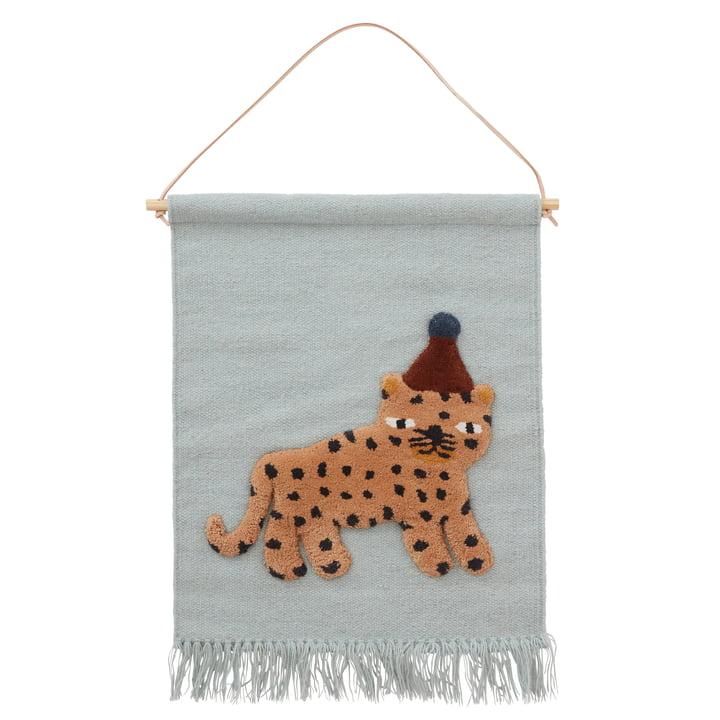 The leopard tapestry, dusty blue by OYOY