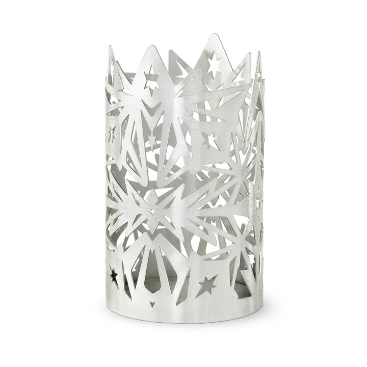 The Karen Blixen block candlestick, H 16 x Ø 9,5 cm, silver by Rosendahl