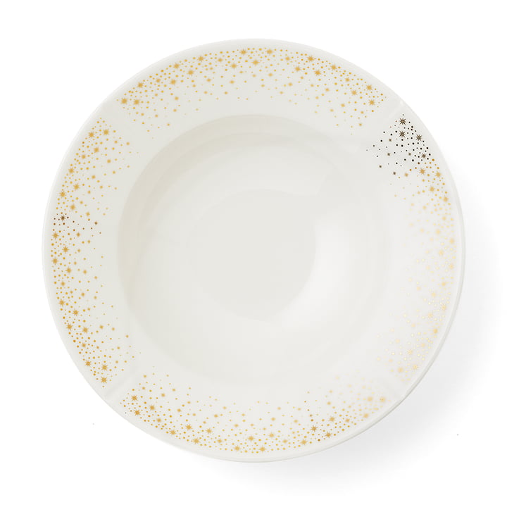 The Grand Cru Moments plate deep, Ø 25 cm, white / gold by Rosendahl