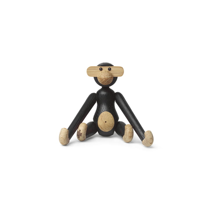 Wooden monkey mini from Kay Bojesen in oak stained black