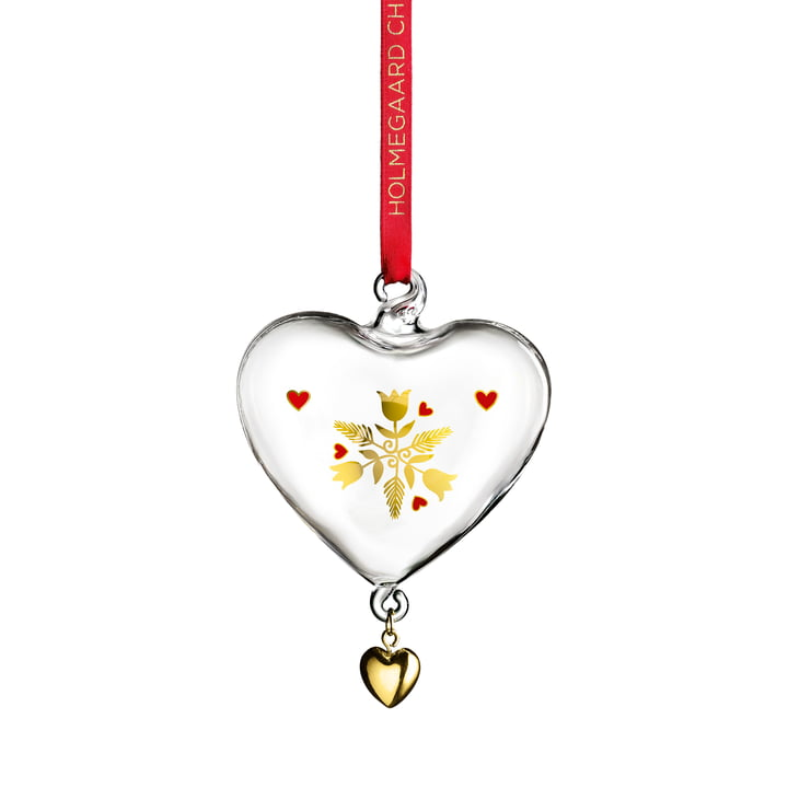 The Christmas heart 2020, glass from Holmegaard