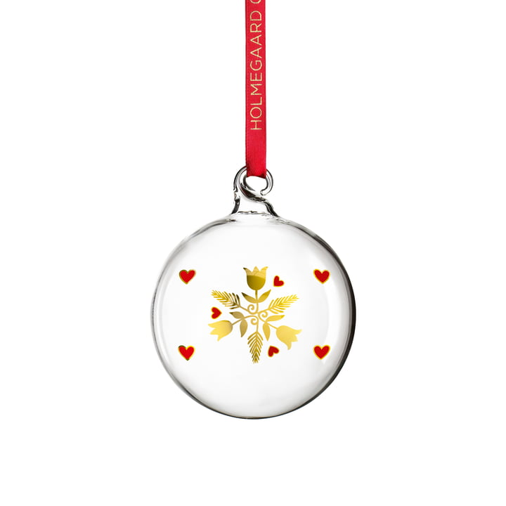 Christmas bauble 2020 from Holmegaard in clear