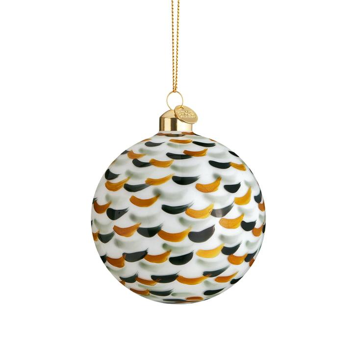 The souvenir Christmas ball, Ø 8 cm, green dotted by Holmegaard