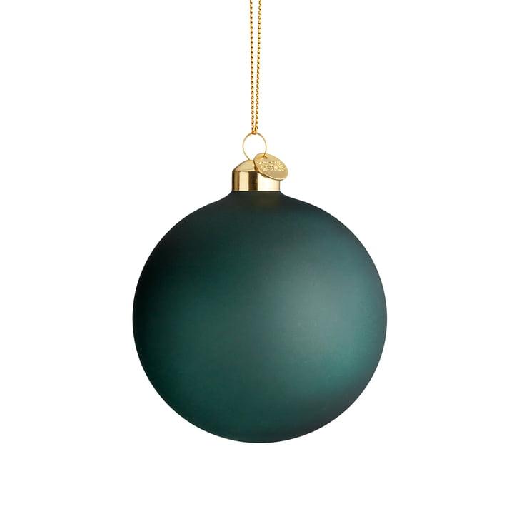 The souvenir Christmas bauble, Ø 8 cm, dark green from Holmegaard