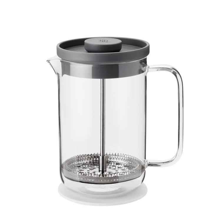 Brew-It press filter jug 0,8 l, transparent / grey from Rig-Tig by Stelton