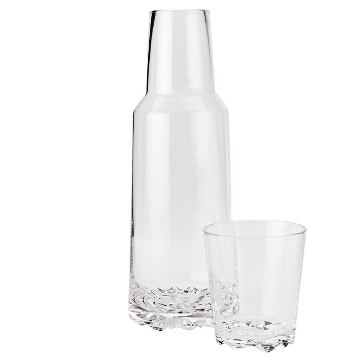 The Glacier carafe 1 l with glass 0.25 l, transparent from Stelton