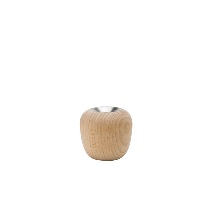 The Ora candlestick, Ø 7,4 x H 7 cm, beech from Stelton
