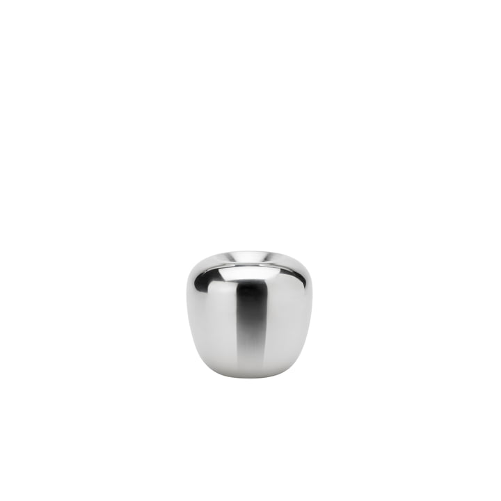 The candle Ora holder, Ø 7,4 x H 7 cm, stainless steel from Stelton