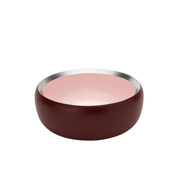 The Ora bowl Ø 15 cm, warm maroon / powder from Stelton