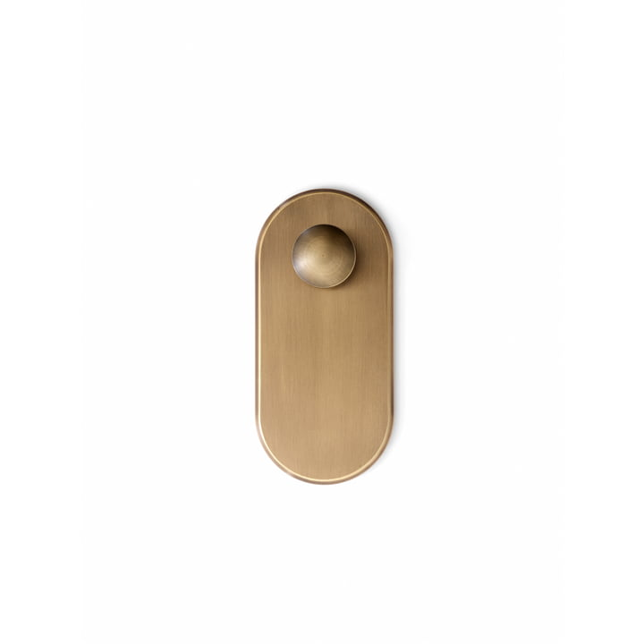 The Collect wall hook SC46, burnished brass from & tradition