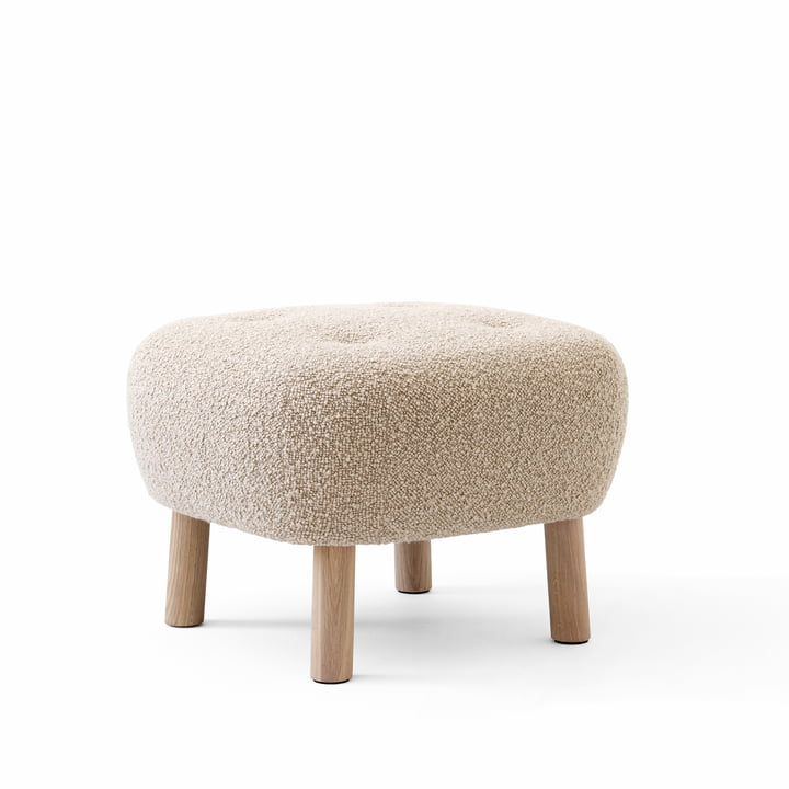 The Pouf ATD1, Karakorum 003 / oak white pigmented by & tradition