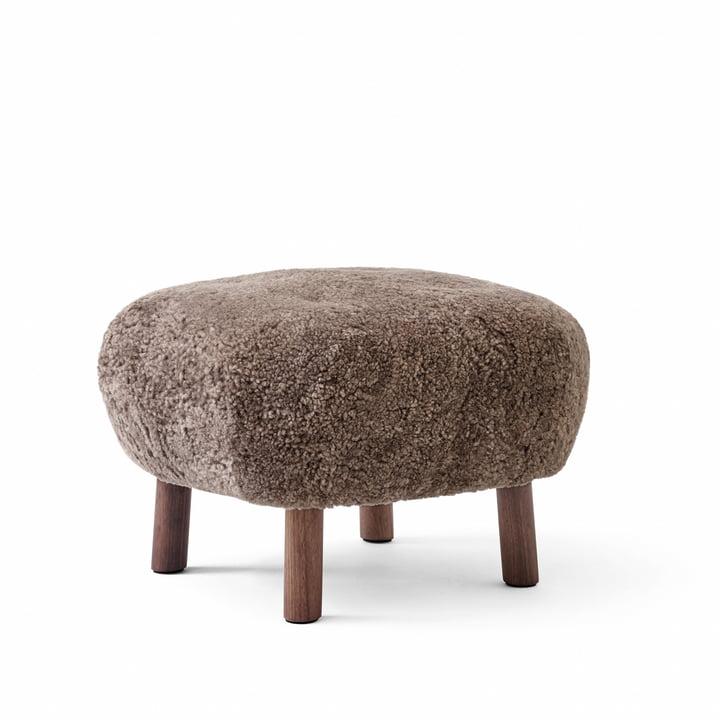 The Pouf ATD1, Sheep Sahara / Walnut from & tradition