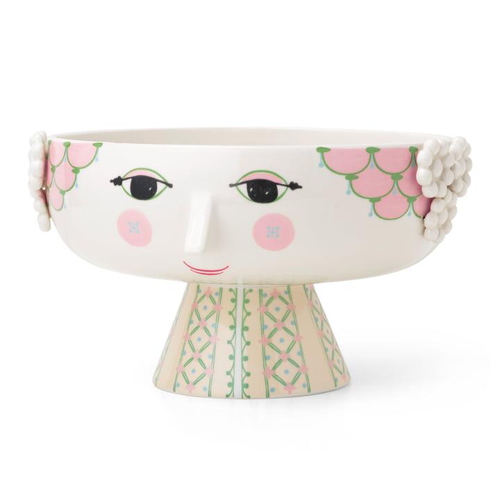 Eva bowl on foot, Ø 24 cm, soft pink from Bjørn Wiinblad