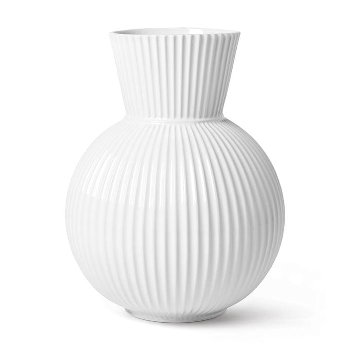 The Lyngby Tura vase, h 34 cm, white from Lyngby Porcelæn