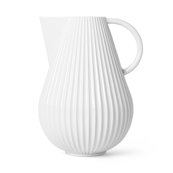 The Lyngby Tura Jug vase, h 27,5 cm, white from Lyngby Porcelæn