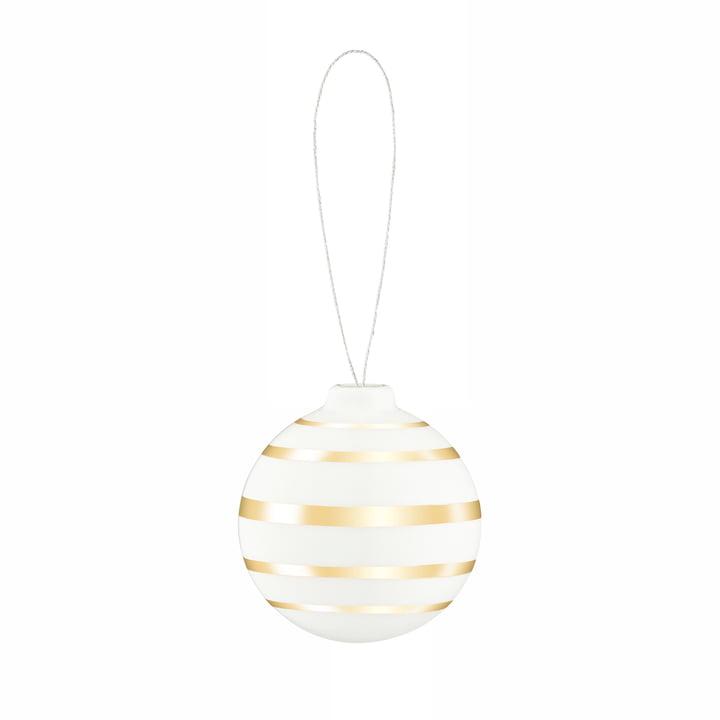 Omaggio Christmas tree ball, Ø 5 cm, gold by Kähler Design