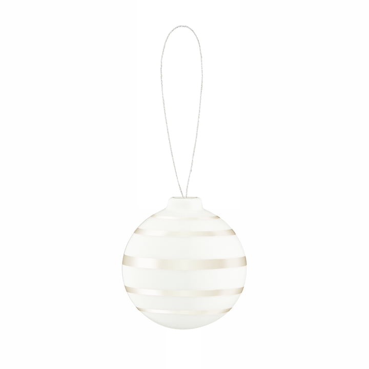 Omaggio Christmas tree ball, Ø 5 cm, mother of pearl from Kähler Design