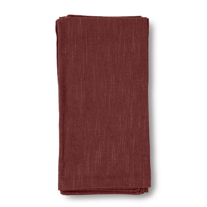 Basic Fabric napkins 45 x 45 cm, chocolate by Juna