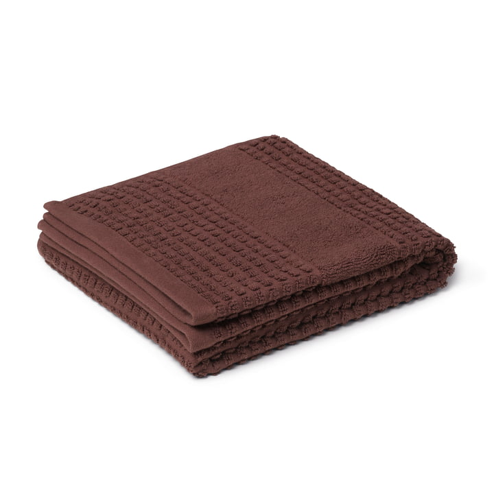 Check Towel 50 x 100 cm, chocolate from Juna