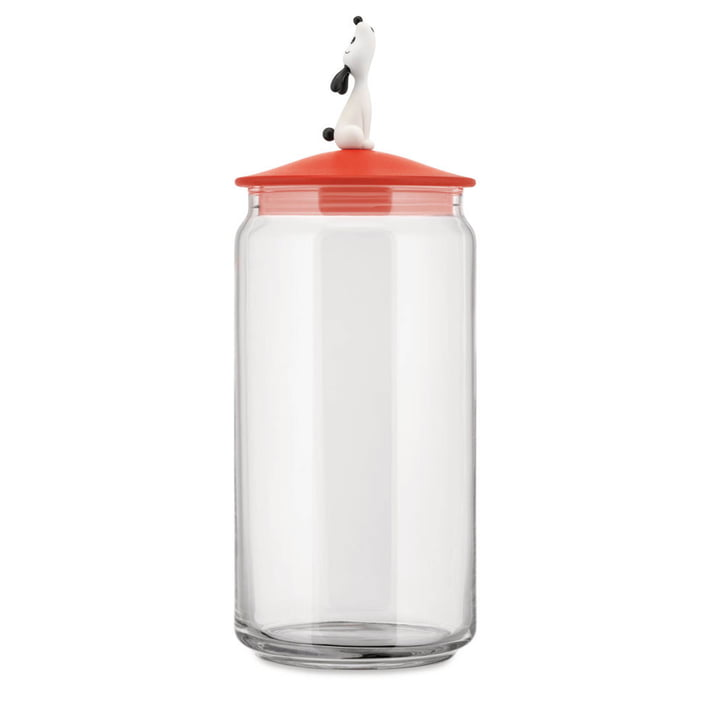 The Lulà container for dog food, red orange by Alessi