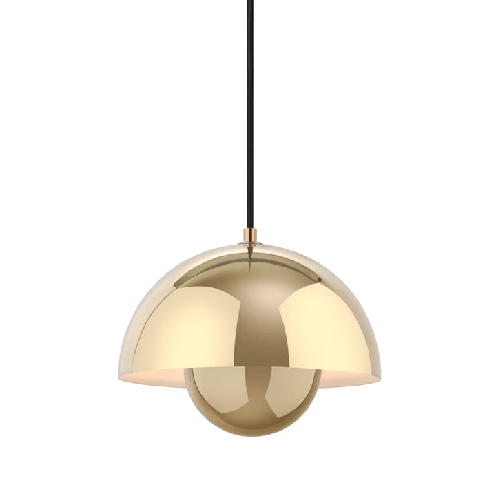 FlowerPot pendant lamp VP1 from & Tradition in polished brass