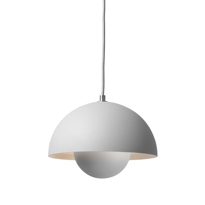 The FlowerPot pendant light VP1 from & Tradition, light grey matt