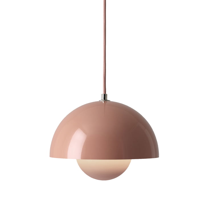 The FlowerPot pendant lamp VP1 from & Tradition, beige red