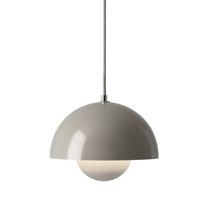 The FlowerPot pendant lamp VP1 from & Tradition, grey-beige