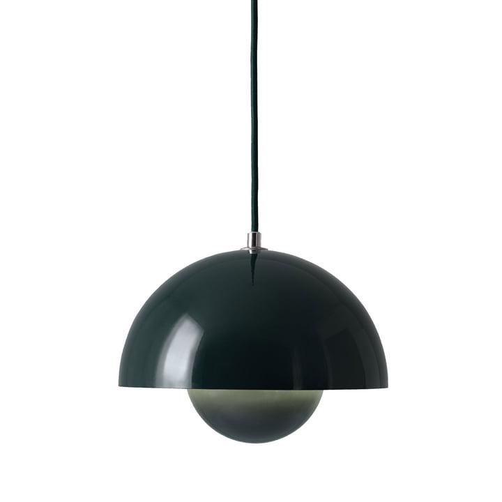 The FlowerPot pendant lamp VP1 from & Tradition, dark green