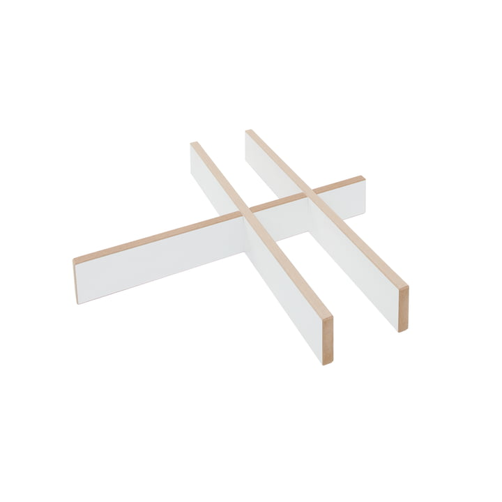 Drawer insert for cargo roll container, white from Tojo