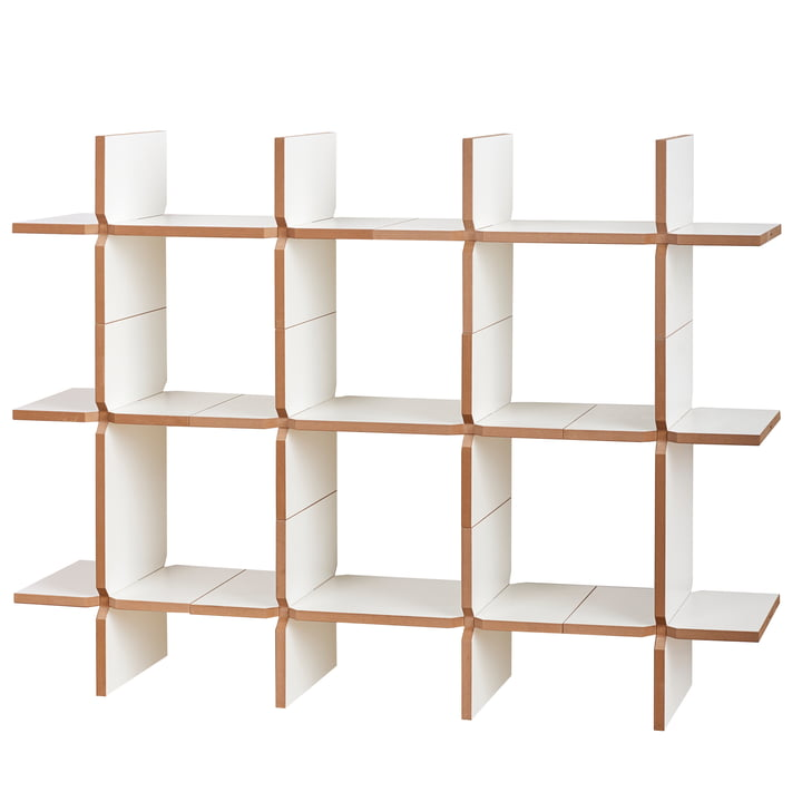 solo Shelving system module 6, white from Tojo
