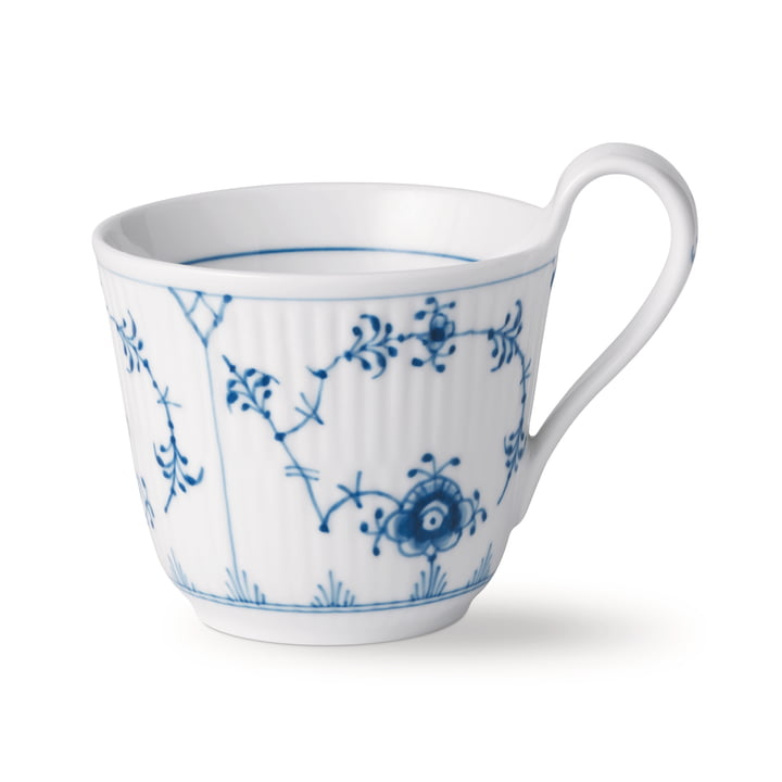 The Musselmalet Ribbed cup with high handle 25 cl of Royal Copenhagen