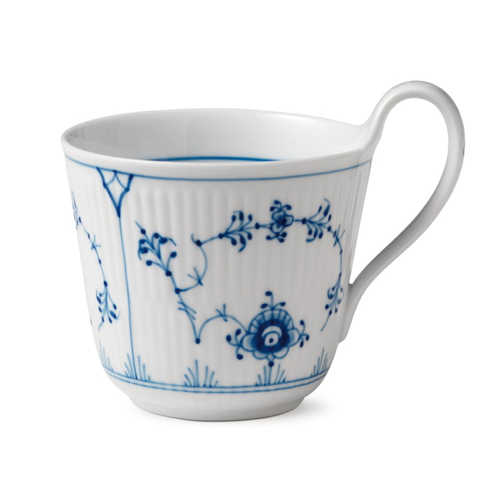 The Musselmalet Ribbed cup with high handle 33 cl of Royal Copenhagen