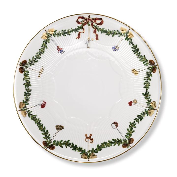 The Star Fluted Christmas platter, 32 cm from Royal Copenhagen